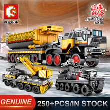 Sembo Figther Trucks  Military Tank Comptible LGSet Technic Building Blocks Bricks Educational Toys Gifts Minfigures