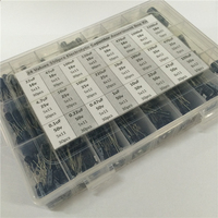 24 Values 550pcs 16V 25V 35 50V 0 1uF To 2200uF Mix Electrolytic Capacitor Assorted Kit