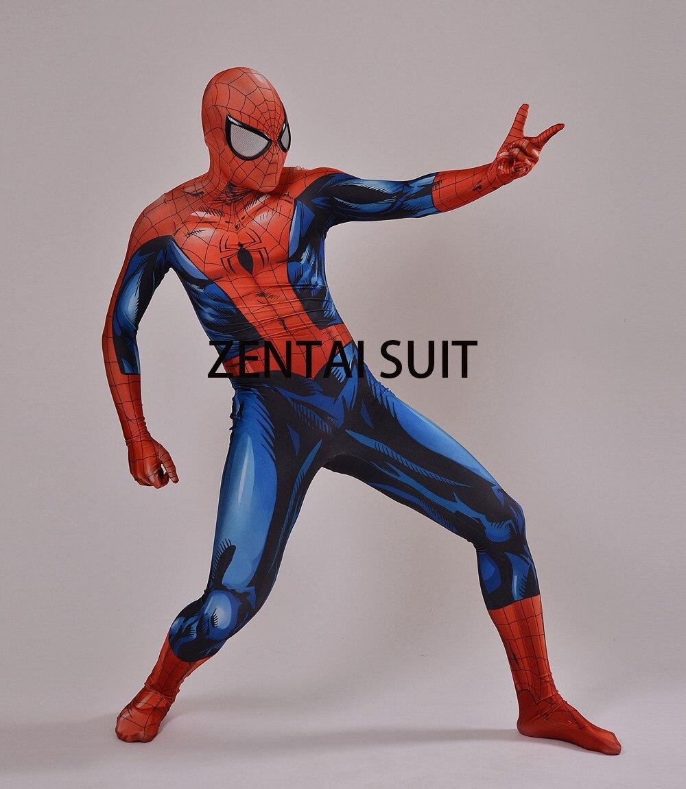2016 Nuevo Último Traje de Spiderman Spandex Sombra 3D Traje de - Disfraces - foto 1