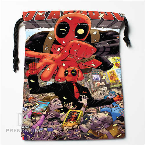 Custom Marvel Cartoon 01 Drawstring Bags Printing Fashion Travel Storage Mini Pouch Swim Hiking Toy Bag
