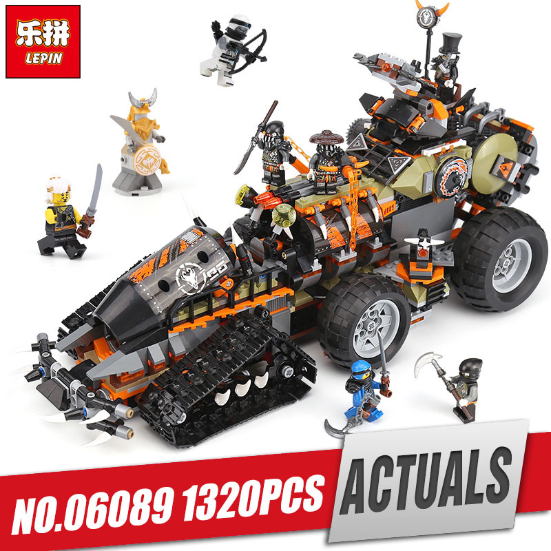 Lepin 06089 New Toys 1320PCS Ninjago Series The Legoing 70654 Dieselnaut Set Building Blocks Bricks Kids Toys As Christmas Gift new 1628pcs lepin 07055 genuine series batman movie arkham asylum building blocks bricks toys with 70912 puzzele gift for kids