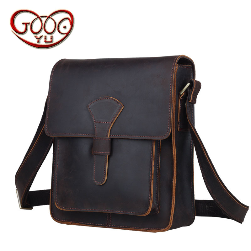 Men vertical square business shoulder bag Italy imported first layer of leather Messenger bag qiaobao 2018 new korean version of the first layer of women s leather packet messenger bag female shoulder diagonal cross bag