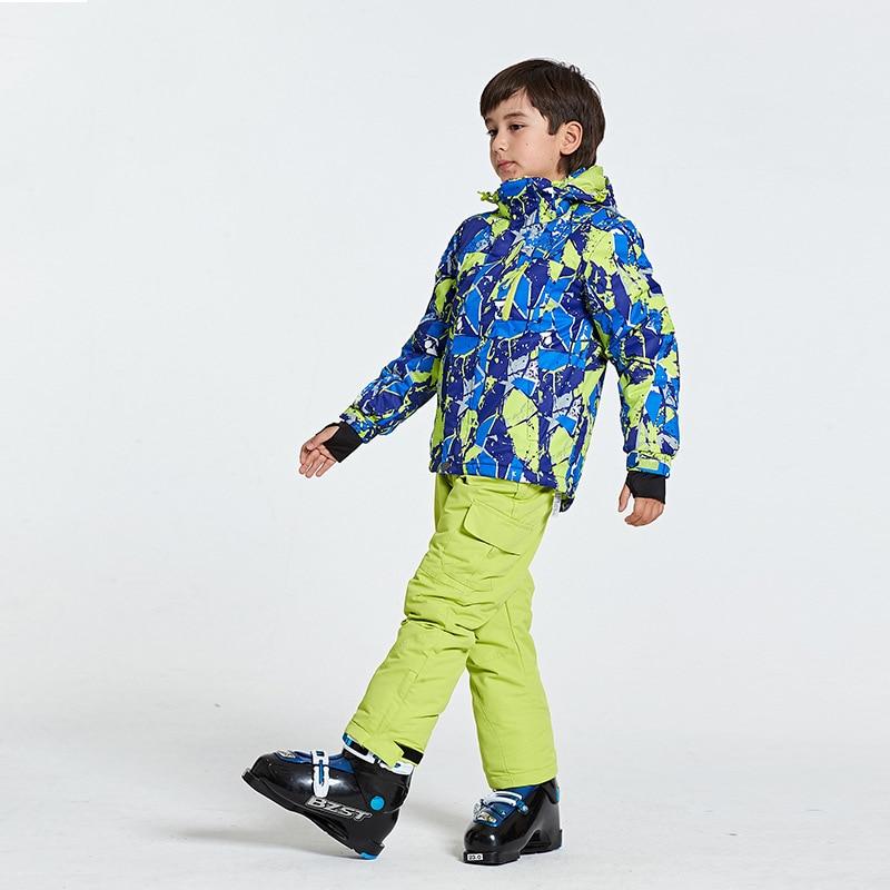 Nouveau hot garçons filles Ski costumes chaud imperméable enfants Ski snowboard vestes + pantalon hiver enfants enfant Ski vêtements ensemble