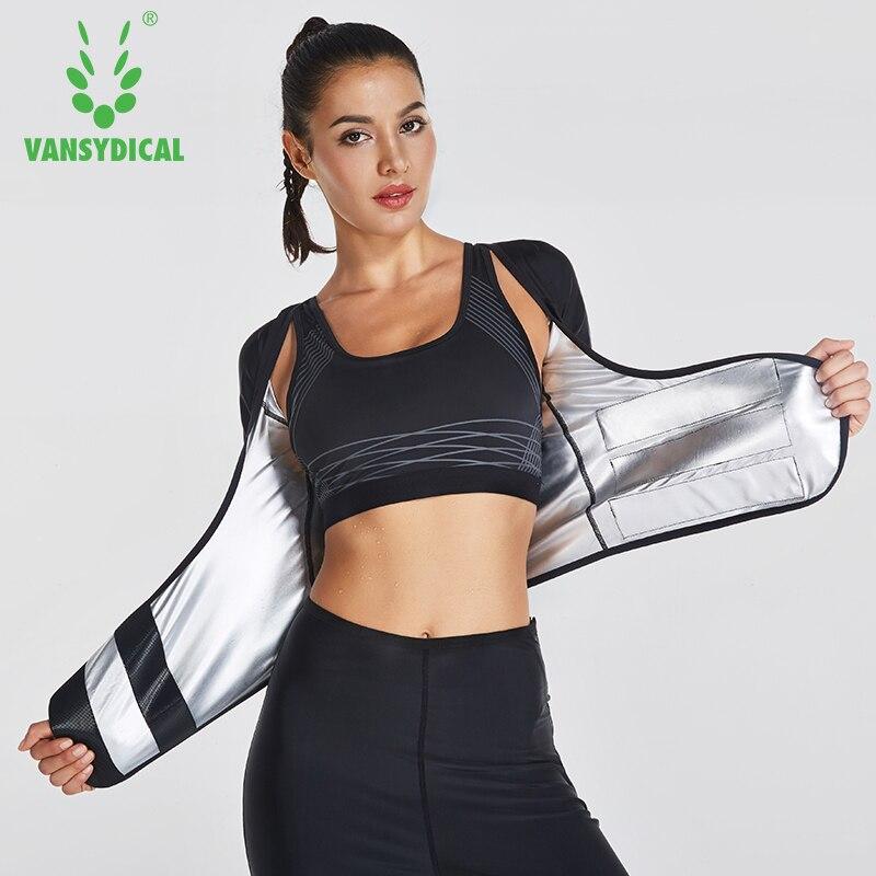 VANSYDICAL 2018 2 pièces vêtements de sport Fitness survêtement entraînement costumes Sweat Yoga costume femmes sport course costumes