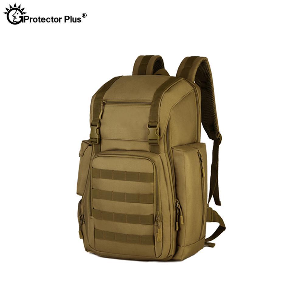 PROTECTOR PLUS 40L Military Tactical Backpack Hiking Rucksack CS High Capacity Waterproof Hunting Ammo Army Camping