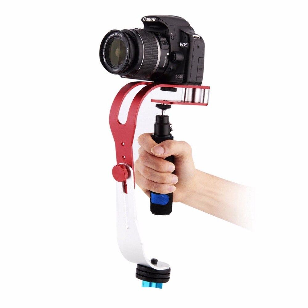 Estabilizador de vídeo de mano para cámara Steadicam estabilizador para Canon Nikon Sony Gopro Hero Phone DSLR DV con soporte para teléfono