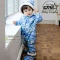 Fashion Thick Warm Baby Boy Clothing Baby Warm Footies Dot Printing 2016 Winter Cute Hooded Baby Crawling Clothes Hot Sale