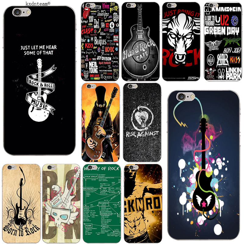 Active Rock Band Indie Concert Metal Clear Phone Case Cover Fits Iphone 5 6 7 8 X Cell Phones & Accessories Cases, Covers & Skins
