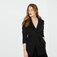 Casual Women's Woolen Suit Type Jacket, Cheap and Chic Everyday Wear Wool Jacket