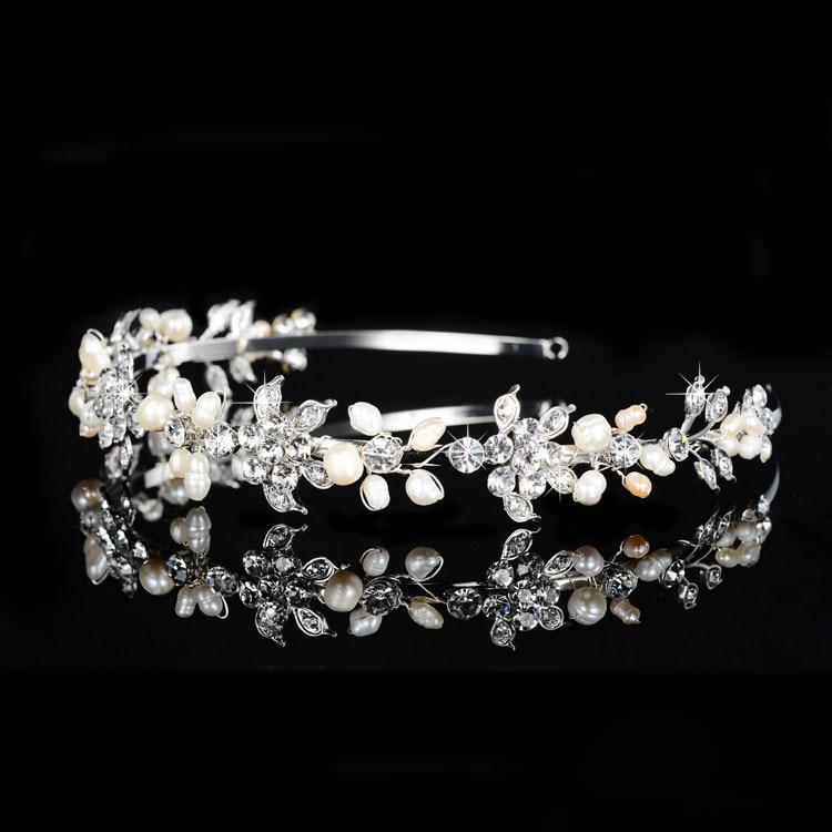 SLBRIDAL Legering Bryllup Tiara Rhinestones Pandebånd Crystal Brude - Mode smykker - Foto 3
