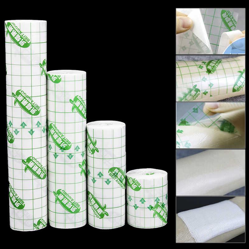 1 rulo su geçirmez şeffaf bant dokunmamış kumaş film tıbbi yara bandı anti-alerjik yara pansuman bant