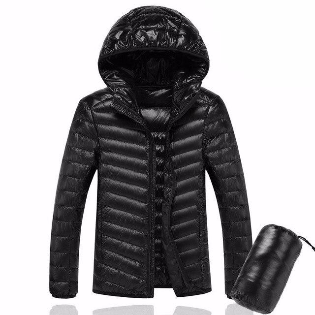 2019 hommes à capuche ultra-léger blanc canard vers le bas veste chaude ligne Portable paquet hommes pack veste