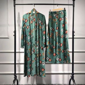 Image 2 - Abaya Kimono Set Kaftan Robe Dubai Islam Muslim Hijab Kleid Kaftan Marocain Ramadan Elbise Katar Oman Türkisch Islamische Kleidung