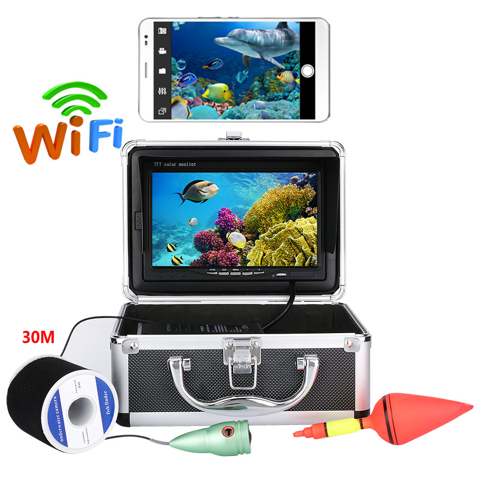 7 20M 30M 50M 1000tvl Underwater Fishing Video Camera Kit ,HD Wifi Wireless For IOS Android APP Video Record and Take Photo7 20M 30M 50M 1000tvl Underwater Fishing Video Camera Kit ,HD Wifi Wireless For IOS Android APP Video Record and Take Photo