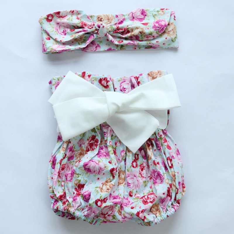 HTB1dOVmJFXXXXbwXFXXq6xXFXXXp - 2015New arrival baby toddler summer boutiques baby girls vintage floral ruffle neck romper cloth with bow knot shorts headband