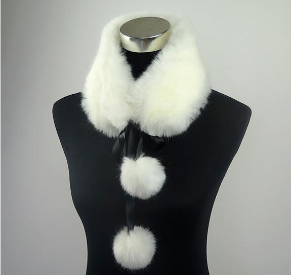 soft faux fur collar cute color fur ring qinter women warm scarf  multi color