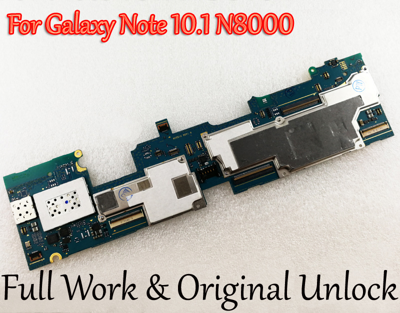 Tested Full Work Unlock Motherboard For Samsung Galaxy Note 10 1 N8000 Logic Circuit Electronic Panel