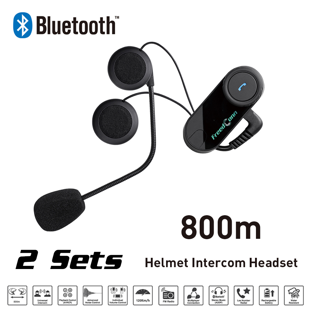 Freedconn Motorcycle Bluetooth Intercom Helmet Headset Bluetooth Intercom with NFC FM Radio Function For Phone/GPS/MP3/FM 1000M new 800m fm function bluetooth motorcycle snowmobile helmet intercom headset for phone gps mp3 intercomunicador motocicleta
