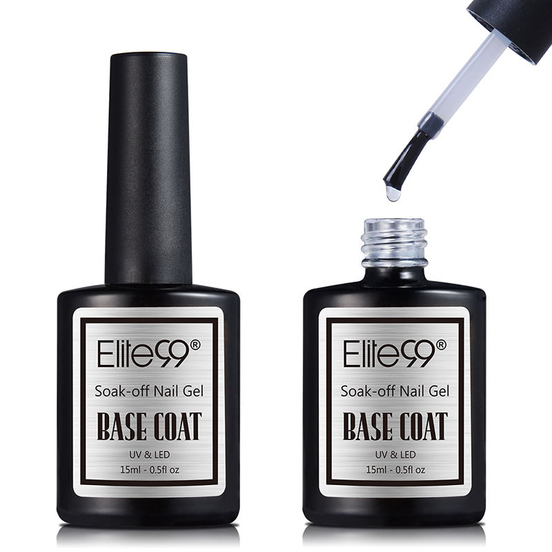 Elite99 15ml Large Top Primer Gel Varnish Soak Off UV LED Gel Nail Polish Base Coat No Wipe Top Color Matt Top Coat Gel Polish