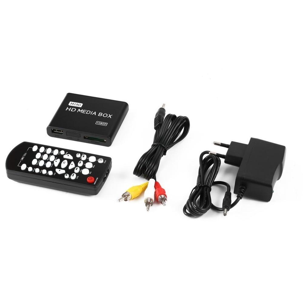 Mini lecteur multimédia boîtier TV vidéo lecteur multimédia Full HD 1080 P USB supprimer le Support MKV RM-SD USB SDHC MMC HDD-HDMI AU ue prise US