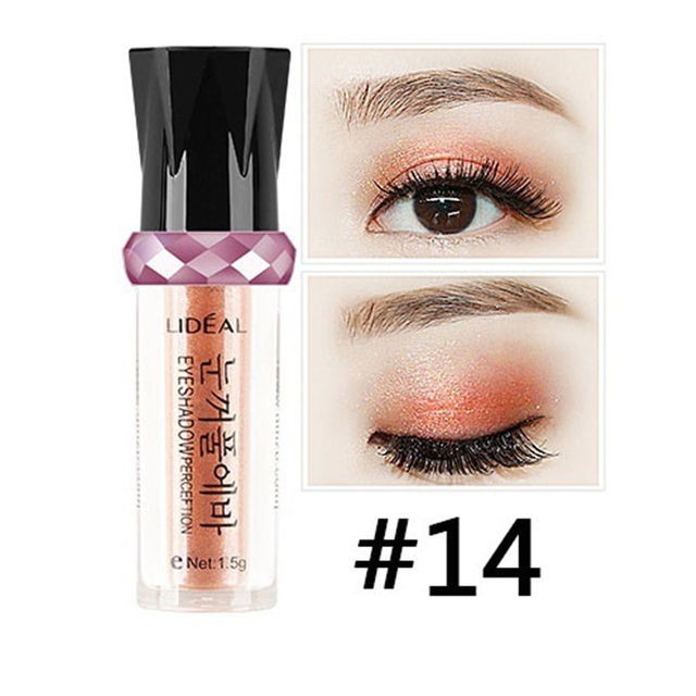New 14 Colors Eyeshadow Eye Balls Shiimer Metallic Gold Eyeshadow Pen Women Gilrs Long Lasting Mineral Shadow Makeup