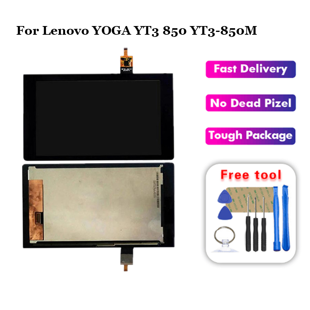 For Replacement For Lenovo Yoga YT3-850 YT3-850F YT3-850M Tablet Touch Screen LCD Display Assembly With Free Tools