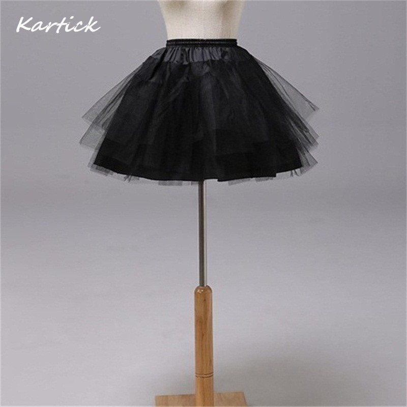 Brand New Petticoats For Flower Girl Dress 3 Layers No Hoop White/Red/Black Short Children Crinoline Girls/Kids/Child Underskirt