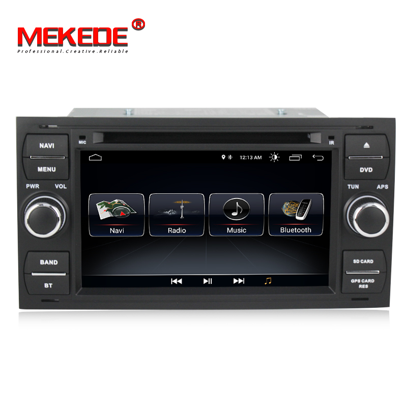 MEKEDE Android 8.1 Car DVD GPS Navigation Player Stereo Radio Audio For Ford Focus 2 Mondeo S C Max Fiesta Galaxy Connect