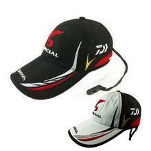 Взрослых Мужчин Регулируемый Дышащий Рыбалка Daiwa Япония Зонтик Спорта Бейсбол Рыбаков Hat Cap Черный Специальное Ведро Шляпы С Логотипом