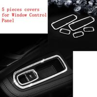 fit for Porsche Macan Cayenne Panamera Windows Control Panel Decorative Frame Trims Interior Sticker Bling Bling