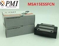 10pcs/lot Original Taiwan PMI MSA15E N MSA15ESSFCN linear guideway sliding block Carriage for CO2 laser machine MSA15E