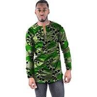 Fashion African Print Men Tops Dashiki Long Sleeve Men T Shirt Custom Made Printed Tees African Men Clothing Tshirts Customized