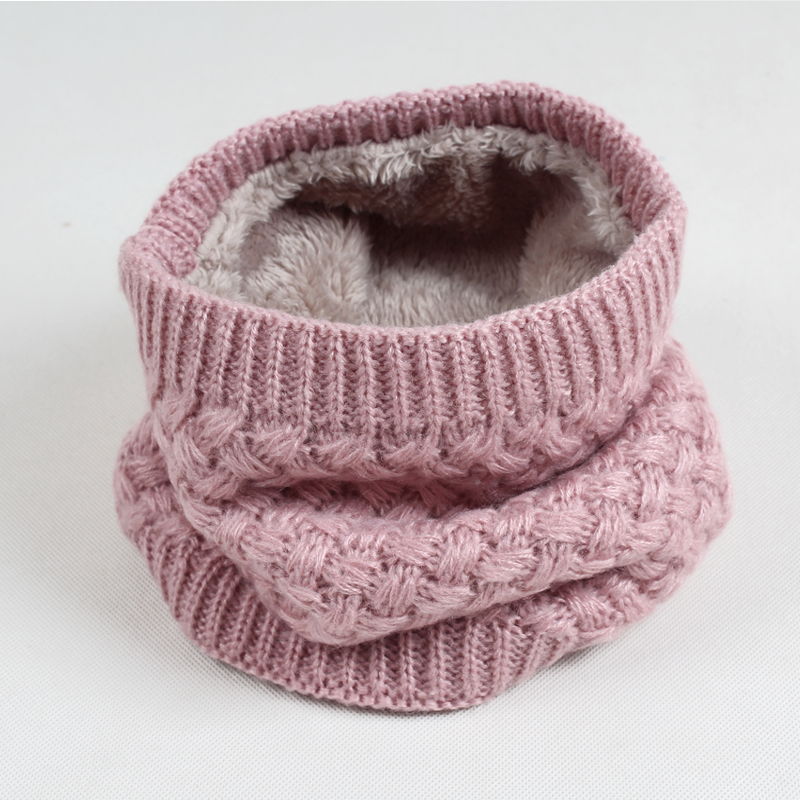 Winter New Women Men Scarf Ring Scarves Double-deck Knitted Warm Scarf Simple Solid Color Circle Infinity WB001