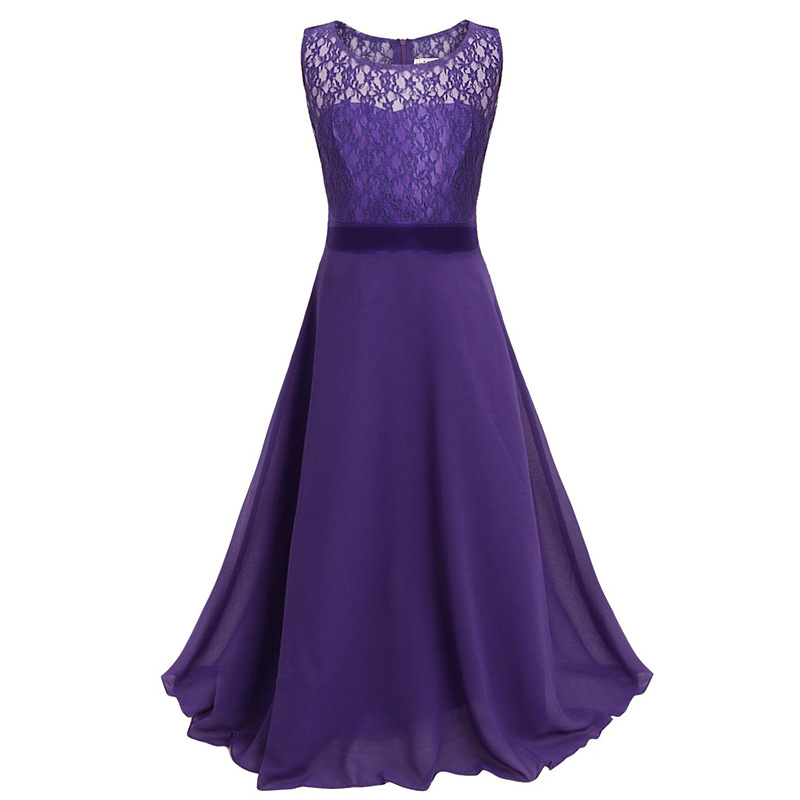 2018 Kids Girls Flower Lace Dress Party/ Wedding Bridesmaid Floral ...