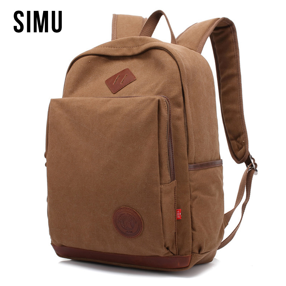 Vintage Men's Canvas Backpacks Fashion Daypack Shoulder Loptop Bags Travel Backpack Women Casual School Book Bag HQB2032