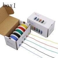 30 m 24AWG 5 Fio de Silicone cor Da Mistura caixa caixa 1 2 pacote Linha de Fio Elétrico de Cobre DIY electric wire 24awg silicone wire 24awg silicone -