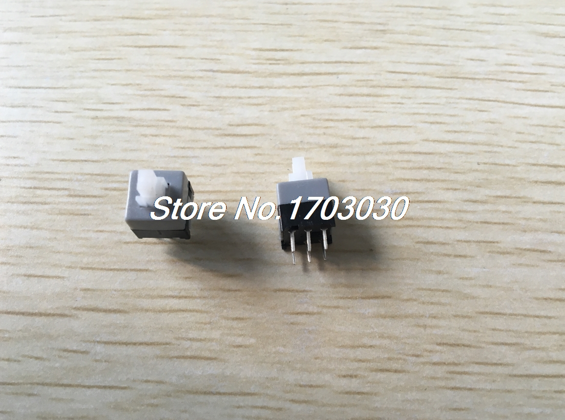 100Pcs 6 Pin 8.5mmx8.5mm Self-locking DPDT Mini Computer Reset Push Button Switch 50pcs lot 6x6x7mm 4pin g92 tactile tact push button micro switch direct self reset dip top copper free shipping russia