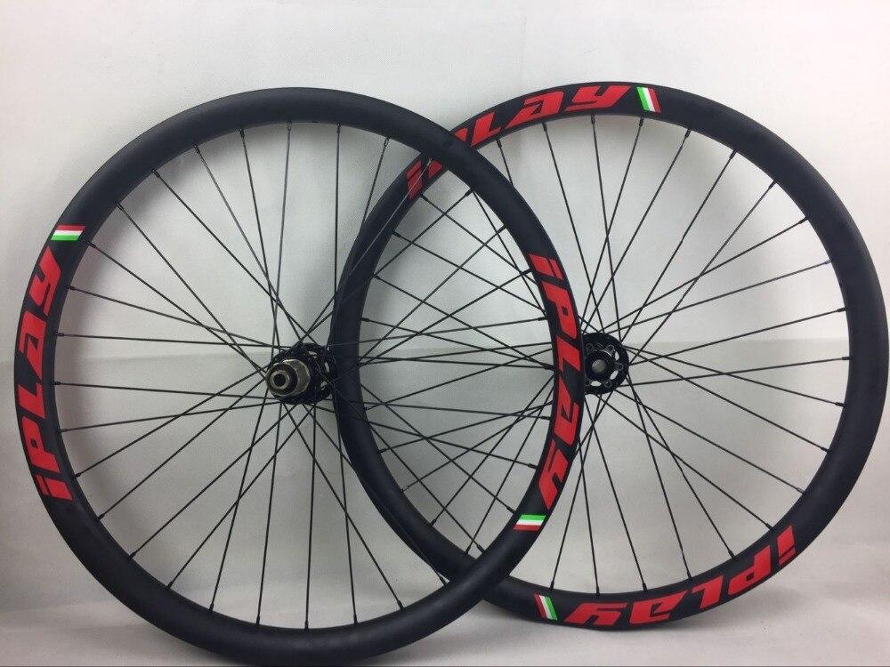IPLAY 110/148 BOOST carbone VTT roue 40 mmBOOST 29er En fiber de Carbone roue 40mm Largeur 29 roue carbone vtt carbone 29ER roues