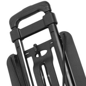 Image 5 - מתקפל מטען עגלת קניות 40Kg אלומיניום סגסוגת רכב עגלת מזוודות מתקפלים נייד נסיעות קרוואן ביתי עגלת מזוודות