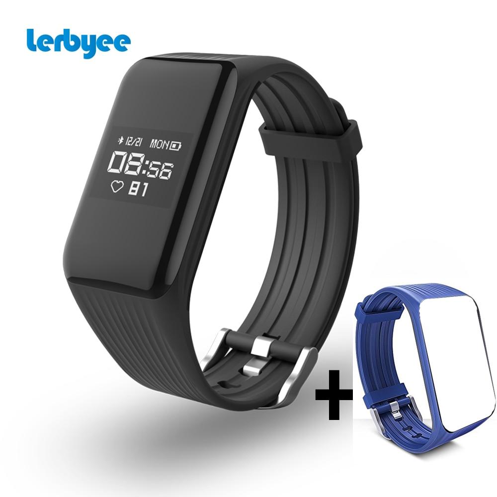Lerbyee Fitness Tracker K1 Smart Armband echtzeit Pulsmesser wasserdicht IP67 Smart Band Aktivität Tracker für sport