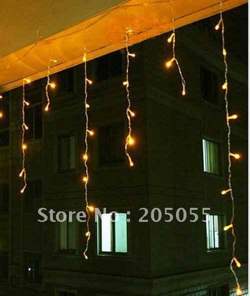 180 светодиодный 6 м занавес фары светодиодный сосульки огни Фея мерцают ж/хвост разъем Сосулька Light Рождество Свадебная вечеринка гирлянда Декор окна