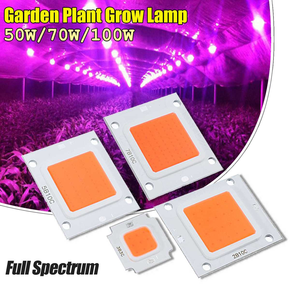 Newest 50W 70W 100W COB LED Chip Indoor Plants Flower Garden Plant Grow Lamp Light Chip DIY Full Spectrum Diode LED Grow Lights
