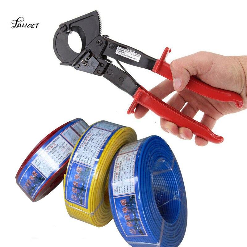 Multifuncional cortador de Cable de trinquete Alicates para Cable de aluminio de cobre cortador de alambre alicates herramientas de mano Multitool