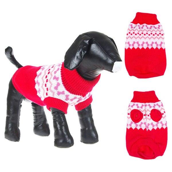 Haustier Hund Pullover Warme Stricken Häkeln Kleidung Für Hund