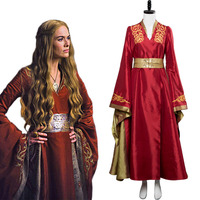 Game of Thrones Season 7 Cosplay Cersei Lannister Costume Dress Adult Women Queen Halloween Costumes Any Size