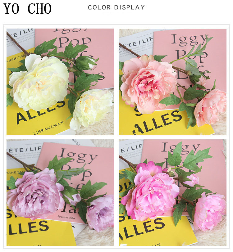 Chinese national flower peonies  simulation big peony flowers for home, living room, bedroom, party,wedding,hotel,shopwindow decoration arranging flower accessories for christmas new year Halloween Thanksgiving Anniversarie