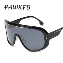 PAWXFB 2019 Fashion Oversized Sunglasses Goggles Women Vintage Brand Design Ladies Sun Glasses Shades