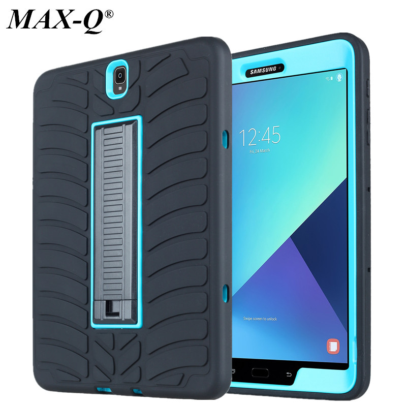 For Samsung Galaxy Tab S3 9.7inch T820 T825 Cases Cover With Kickstand Tyre Style Duty Armor Silicon+PC shell For Galaxy Tab S3 sahar cases чехол узор с маленькими сердечками samsung galaxy s3