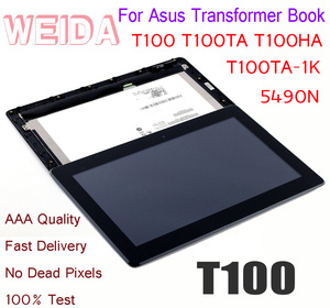 "WEIDA LCD 10.1"" For Asus Transformer Book T100 T100TA T100TA-1K LCD Display Touch Screen Assembly Frame B101XAN02.0 5490N T100HA(China)"