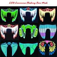 Mode Draht LED Halloween Ostern Rave Maske Leuchtenden Kostüm Maske Party Ostern Dekor Geschenk